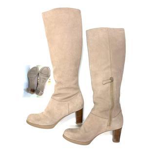 コールハーン(Cole Haan)の美品☆コールハーン COLE HAAN ロングブーツ 6 スエード ベージュ 靴(ブーツ)