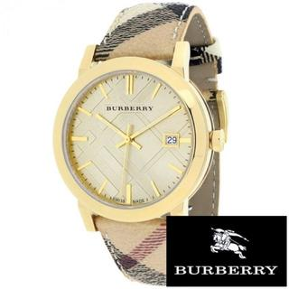 バーバリー(BURBERRY)の【☆大感謝セール☆】バーバリー/★新品/チェック/腕時計/ユニセックス/ゴールド(腕時計(アナログ))