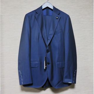 定価15万 新品 LARDINI スーツ セットアップ 50 ネイビー