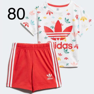 アディダス(adidas)のお値下げ価格!新品!アディダスキッズ☆セットアップ80cm(Tシャツ)