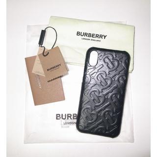 バーバリー(BURBERRY)のバーバリー モノグラム leather iPhoneX iPhone ケース(iPhoneケース)