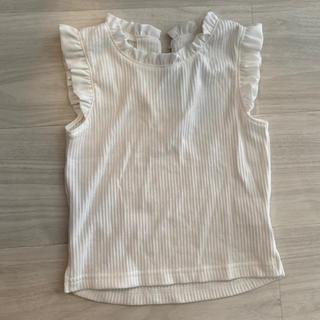petit main - プティマイン 裾フリルタンクトップ