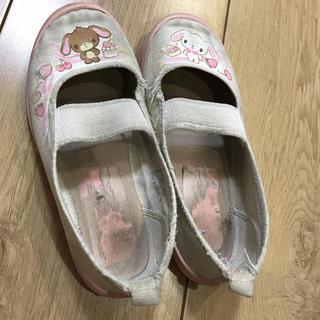 上履き 上靴 17cm ピンク サンリオ (スクールシューズ/上履き)