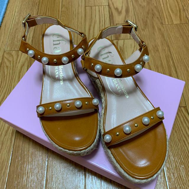 DIANA(ダイアナ)のDIANA パール付きウェッジサンダル レディースの靴/シューズ(サンダル)の商品写真
