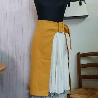 ティティアンドコー(titty&co)のtitty&Co 重ね巻きスカート 新品未使用(ひざ丈スカート)