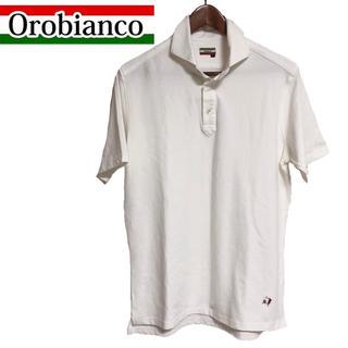 オロビアンコ(Orobianco)のOROBIANCO 半袖ポロシャツ 半袖カットソー ゴルフポロシャツ 白(ポロシャツ)