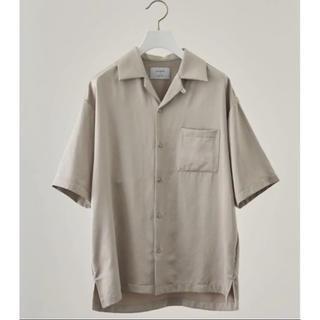 ステュディオス(STUDIOUS)のSTUDIOUS フィブリルサテンオープンカラーシャツ ベージュ 1(シャツ)