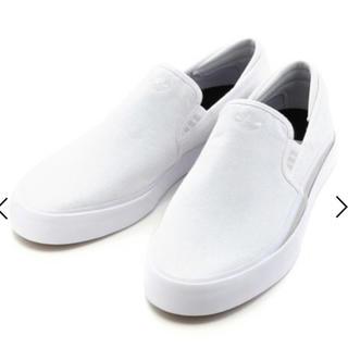 adidas - 【新品】アディダス  スニーカー 23.5 スリッポン 白 ホワイト
