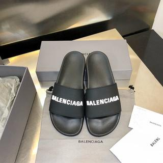 Balenciaga - サンダル メンズレディース 黒(白字)