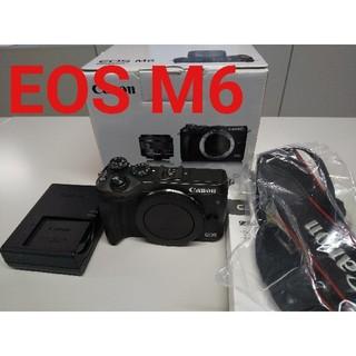 キヤノン(Canon)の【美品】CANON キヤノン EOS M6  ボディ(ミラーレス一眼)