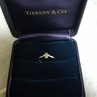 ティファニー(Tiffany & Co.)のティファニー ベゼルセットプラチナ ダイヤ リング (リング(指輪))
