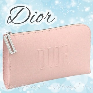 Dior - 【Dior】2020新作 ディオール ソフトレザー調 ノベルティ ポーチ ピンク