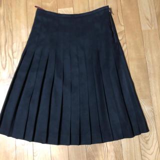 アマカ(AMACA)の美品 アマカのプリーツスカート(ひざ丈スカート)