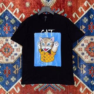 Gucci - GUCCI [猫プリントTシャツ]S  メンズ