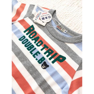 ダブルビー(DOUBLE.B)の新品ミキハウスダブルb半袖ボーダーカットソーTシャツ100(Tシャツ/カットソー)