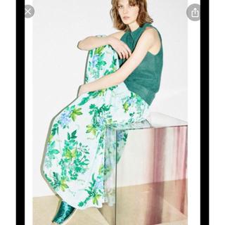 FRAY I.D - 新品タグ付⭐️FRAY. IDリボンギャザーシャーリングスカート グリーンS