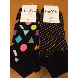 新品 Happy Socks ハッピーソックス Mサイズ41-46 正規品 2足(ソックス)