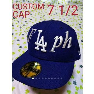 ニューエラー(NEW ERA)のニューエラ flaph フラフ LA カスタム ベースボール キャップ ブルー(キャップ)
