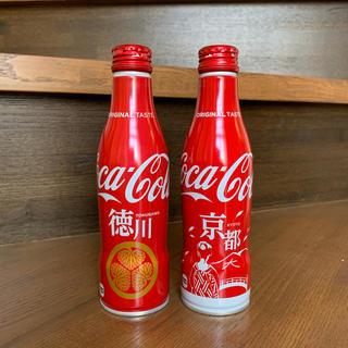 コカコーラ(コカ・コーラ)のコカ・コーラ スリムボトル 地域限定ボトル 京都デザイン 徳川デザイン (ノベルティグッズ)