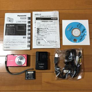 パナソニック(Panasonic)のデジカメ ルミックス Panasonic LUMIX FX DMC-FX40-R(コンパクトデジタルカメラ)