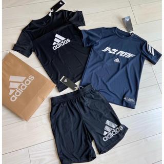 アディダス(adidas)の新品 adidas 半袖 Tシャツ ハーフパンツ 3点セット 130 男の子(Tシャツ/カットソー)