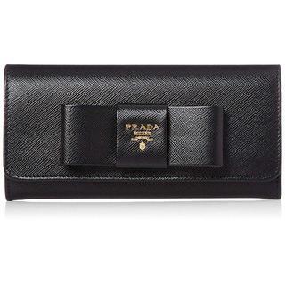 プラダ(PRADA)のプラダ 長財布 サフィアーノ 黒 ブラック PRADA 新品 箱有り(財布)