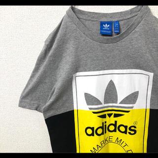アディダス(adidas)のadidas アディダス Tシャツ トレフォイル ビッグロゴ L グレー(Tシャツ/カットソー(半袖/袖なし))