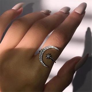 ザラ(ZARA)のインポート ムーンリング 月(リング(指輪))