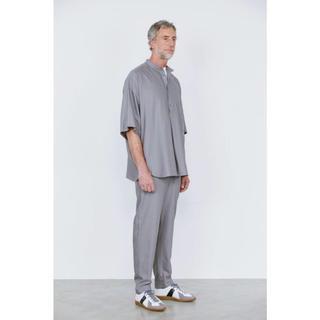 コモリ(COMOLI)のgraphpaper スタンドカラーハーフスリーブシャツ(シャツ)