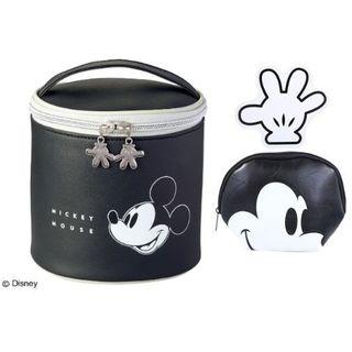 ディズニー(Disney)の付録 ミッキー 筒型ポーチ + フェイス&手形ポーチ(ボトル・ケース・携帯小物)