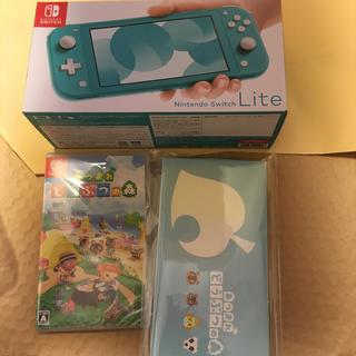 Nintendo Switch - 任天堂 スイッチライト本体 ターコイズ 新品未開封 あつまれどうぶつの森 ソフト