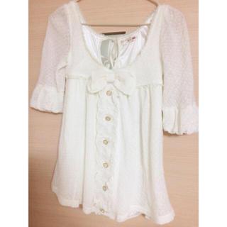 リズリサ(LIZ LISA)のLIZLISAリボン(Tシャツ(半袖/袖なし))