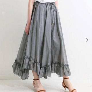 IENA - 【IENA La Boucle】ローンフリルヘムスカート 38サイズ