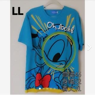 ディズニー(Disney)のGEᖇIᖇᗩ's shop☆*°Disney ドナルドTシャツ サイズLL(Tシャツ/カットソー(半袖/袖なし))