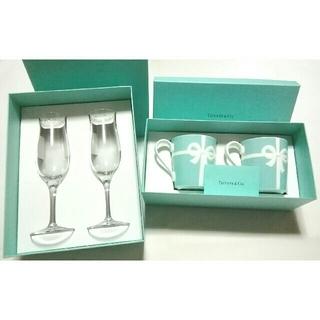 ティファニー(Tiffany & Co.)の大人気の高級ブランド食器(ティファニーブルーボックス&シャンパングラス)新品格安(グラス/カップ)