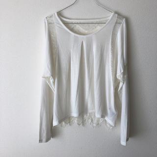 マウジー(moussy)のマウジー 新品 レース ドルマン ロンT(Tシャツ(長袖/七分))