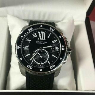 本日限定付属品完備 カルティエ自動巻腕時計