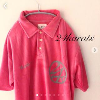 トゥエンティーフォーカラッツ(24karats)の24karats 半袖ポロシャツ  Lサイズ 24カラッツ(ポロシャツ)