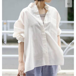 IENA - 新品 IENA シアーシャツ