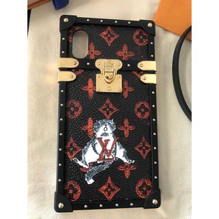 ルイヴィトン(LOUIS VUITTON)の★新品同様★ルイヴィトン キャットグラム アイトランク iPhoneケース 猫(iPhoneケース)