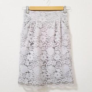 ミスティウーマン(mysty woman)のmysty woman 刺繍レース タイトスカート(ひざ丈スカート)