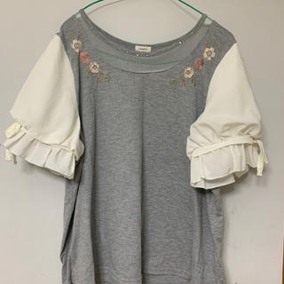 ❣️値下げ❣️ふんわりキュートなトップス❤️4L(Tシャツ(半袖/袖なし))