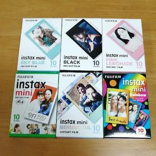 フジフイルム(富士フイルム)のinstax mini film チェキ 単色柄 フイルム 60枚 新品(フィルムカメラ)