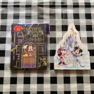 Disney - ⑨ ディズニー メモ帳 + バラメモ50枚