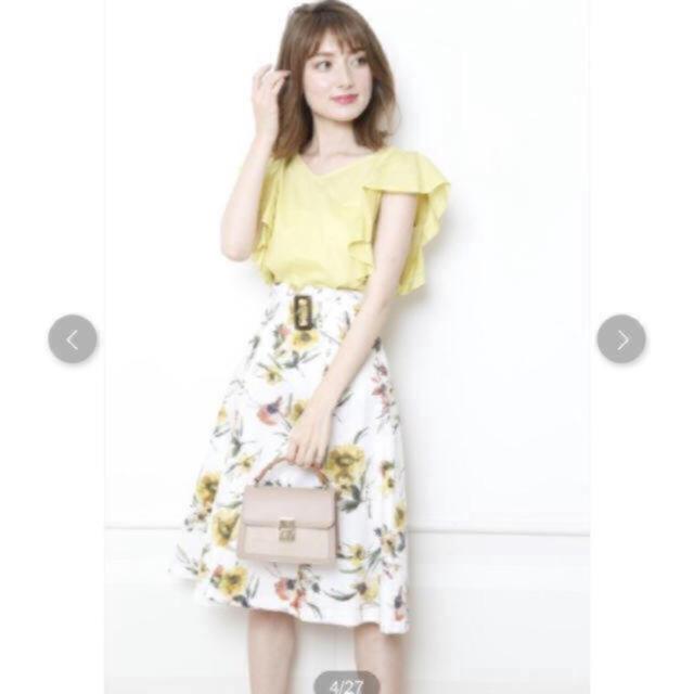 Apuweiser-riche(アプワイザーリッシェ)の新品未使用 アプワイザーリッシェ    フラワー柄スカート レディースのスカート(ひざ丈スカート)の商品写真