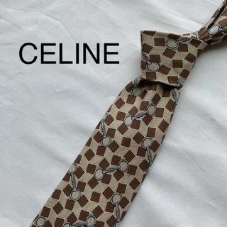 celine - 【美品!】CELINE セリーヌ ネクタイ 総柄