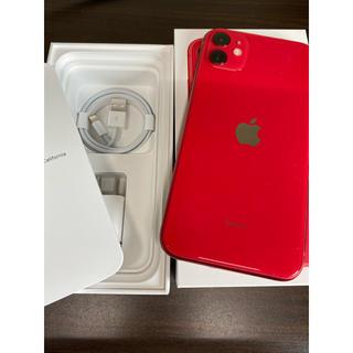 iPhone - 美品 iPhone 11 64GB Red SIMロック解除済み SIMフリー
