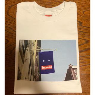 シュプリーム(Supreme)のsupreme banner tee 白 S(Tシャツ/カットソー(半袖/袖なし))