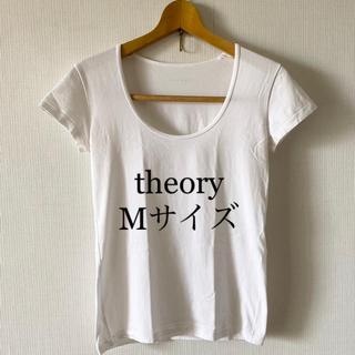 セオリー(theory)のセオリー 白 Tシャツ Mサイズ(Tシャツ(半袖/袖なし))