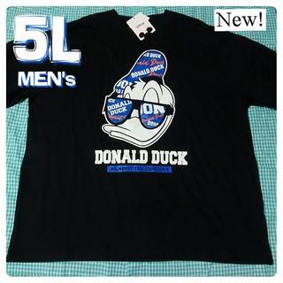ディズニー(Disney)の大きいサイズ 5L ディズニー Disney ドナルド ビッグプリント 4XL(Tシャツ/カットソー(半袖/袖なし))
